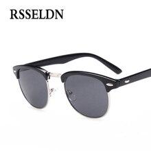 RSSELDN Newest Half Metal High Quality Sunglasses Men Brand Designer Fashion Round Sun Glasses Women Gafas Oculos De Sol UV400