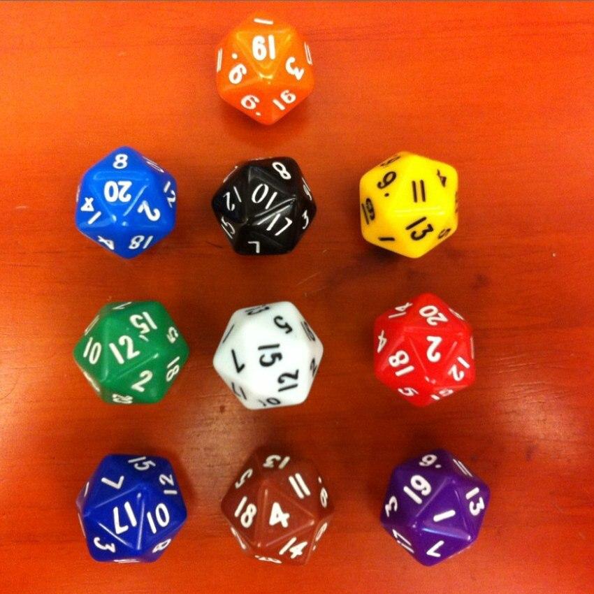 Leap table D20 boson dadu / Coloured dadu polyhedron / DND game dadu / Millionaire dadu