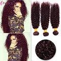 7A Ombre Brazilian Hair Weave Bundles Burgundy 99j Brazilian Hair Curly Wave Red Brazilian Curly Wave Ombre Hair Extensions