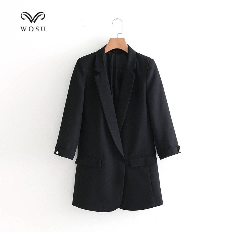 WOSU Women Office Lady Notched Collar Suit short coat LAPEL SUIT JACKET Temperament OL style-BB056 ...