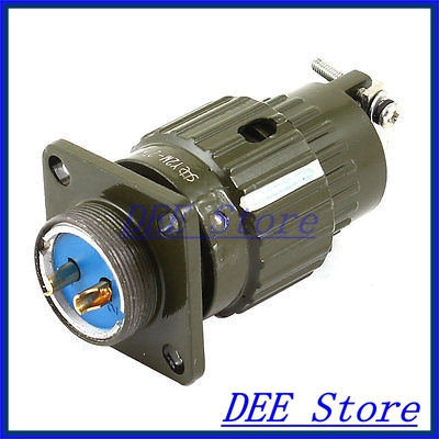 20mm Thread Dia Aviation Pannel Connector Plug Adapter 2P 2 Pin AC 250V 15A electric cable aviation 4p 25mm pannel connector plug adapter ac 250v 7a