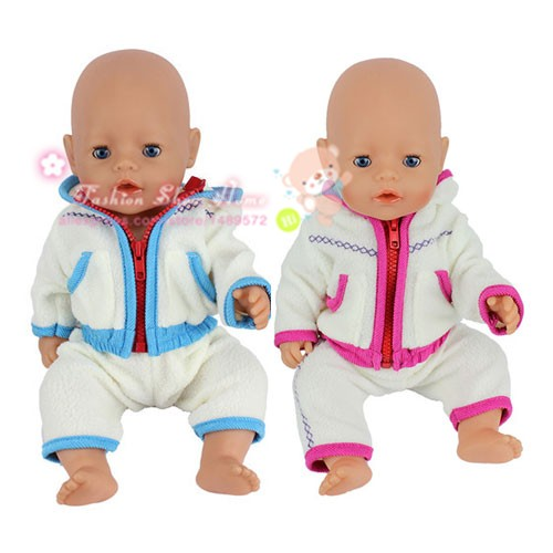 2color choose  leisure  sport clothes Wear fit 43cm Baby Born zapf,  Children best  Birthday Gift(only sell clothes) 4color choose set clothes hairbrand wear fit 43cm baby born zapf children best birthday gift only sell package