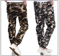 WENDYWU Boy Clothing Kids Camouflage Trousers Kids Pants Boys Trousers Camo Pants Boys Military Pants Big Size 8 10 12 14 16