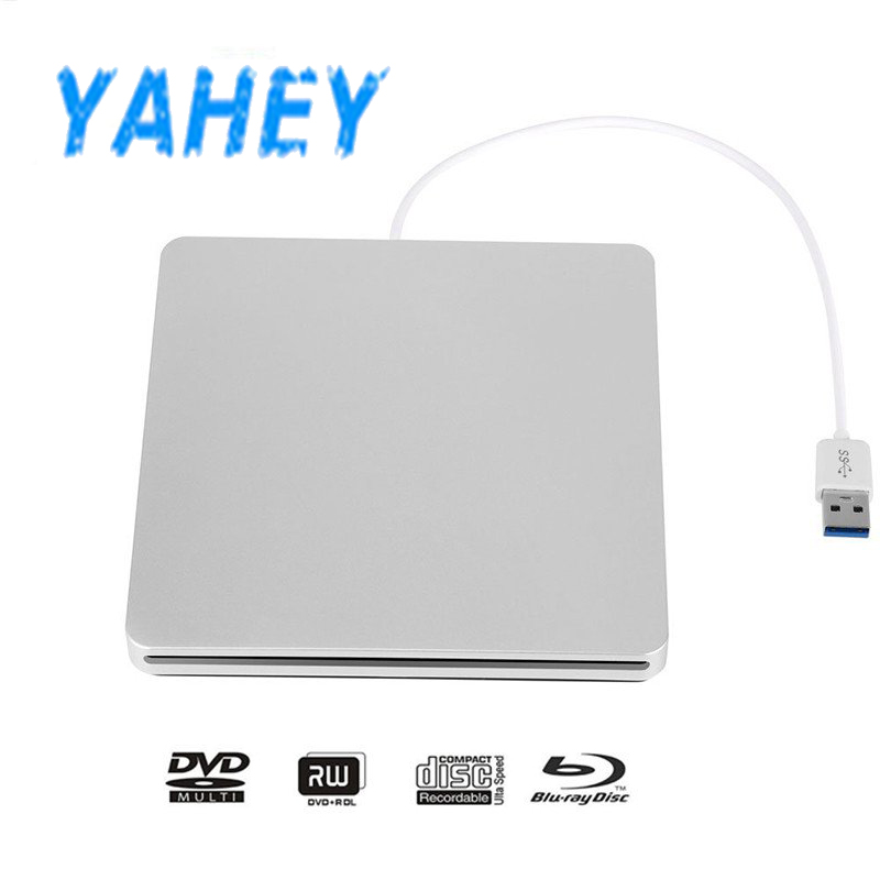 USB 3.0 Slot Load Blu-ray Player Drive BD-RE Burner External CD Recorder Writer DVD+/-RW DVD RAM ROM for Laptop Computer Mac PC usb 3 0 blu ray burner drive bd re external dvd recorder writer dvd rw dvd ram 3d player for laptop
