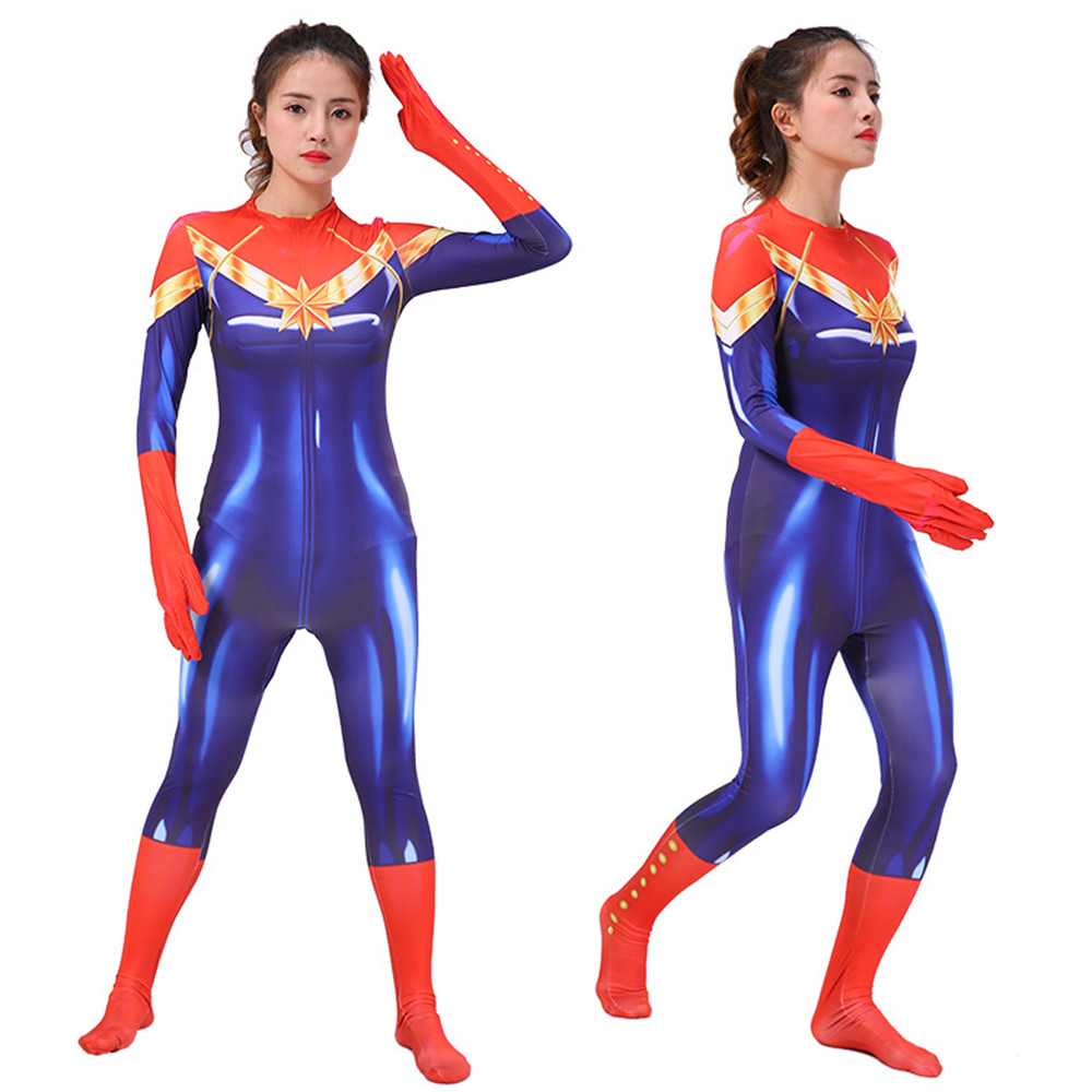 Avengers Infinity War Captain Marvel Costume Female Women Movie Cosplay Bodysuit New Party Halloween Costumes Zentai Suit