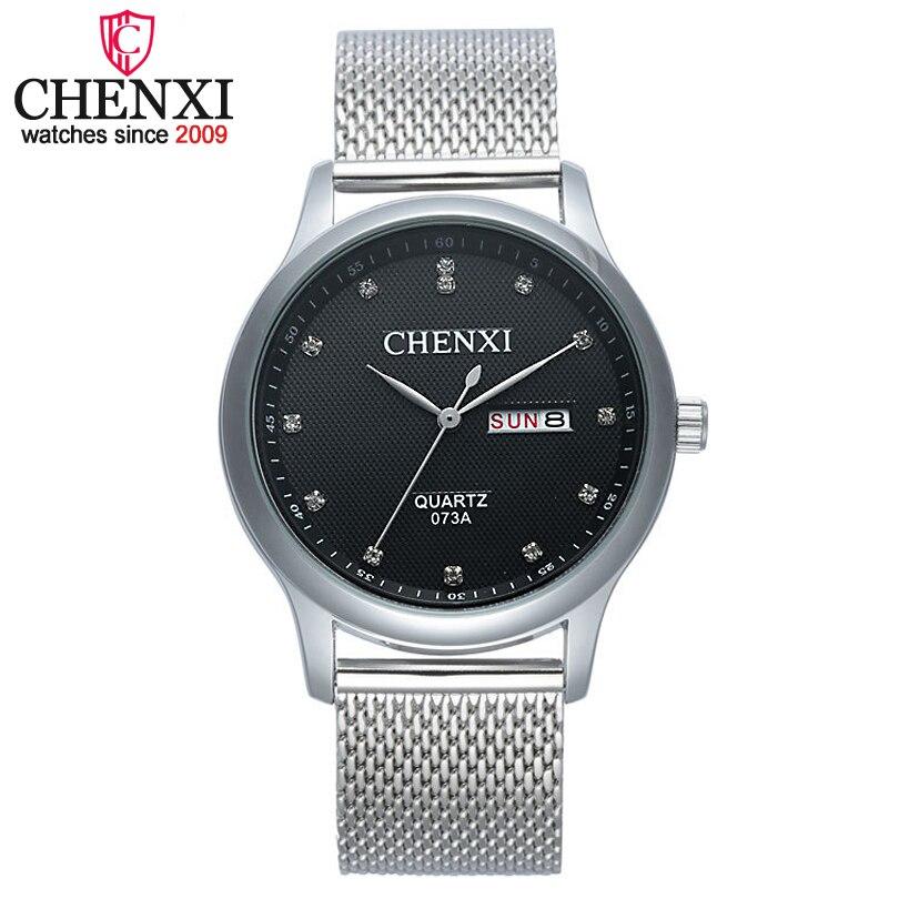 CHENXI Men New Top Brand Stainless Steel Belt Waterproof Quartz Watch Men Clock Datejust Male Hours Hodinky Ceasuri Montre Homme стоимость