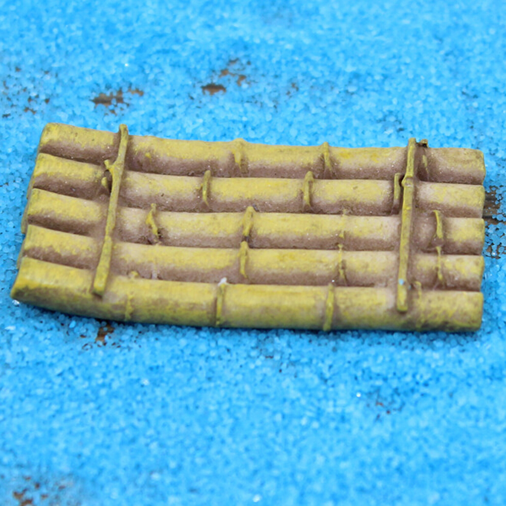 New 1Pcs DIY Mini Dollhouse Supplies Mini Raft Resin Crafts Bamboo ...