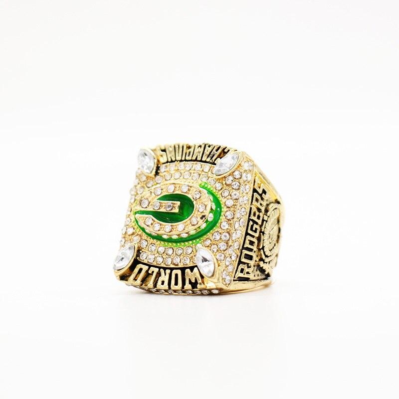 Drop Ship 2010 Green bay packers championship ringe für Rodgers, replica fußball ringe für Weihnachtsgeschenk