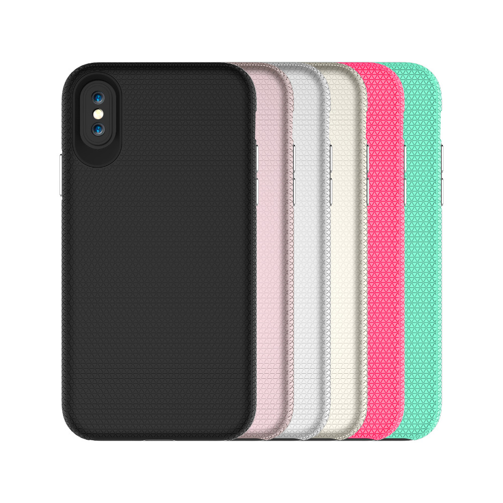 For iphone X Case Shockproof 2 in 1 hybrid armor dual protection phone case for iphone x ...