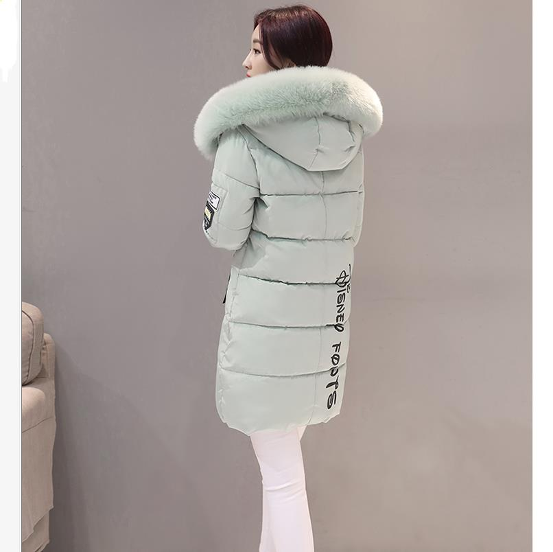 Padded winter new pike jacket female long 5 size big fur collar hooded women's Tooling warm M L XL XXL XXXL parkas cotton M1 аккумуляторная дрель шуруповерт bort bab 10 8 p