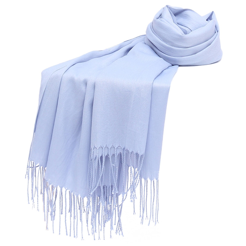 2018 New Fashion Womens   Scarf   Hijab Pashmina Long Shawl   Wraps   Bandana Tassels Women Lady Solid Autumn Winter   Wraps     Scarf