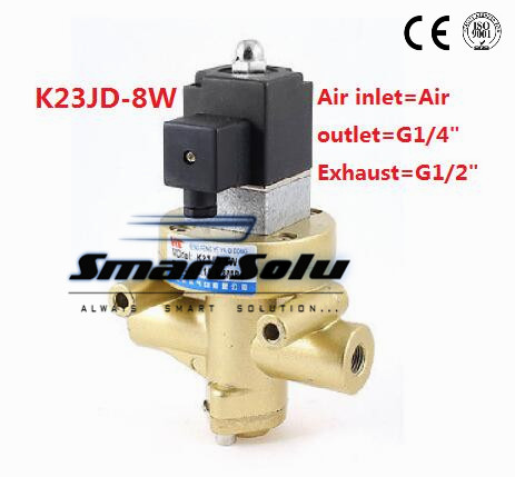 Air Valve Two Position Three Way Stop Type Electric Control Reversing Valve Pneumatic Stop Valve Cut Off Solenoid Valve