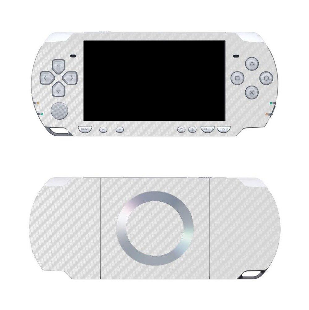 White Carbon Fiber Vinyl Skin Sticker Protector For Sony PSP 2000 Skins Stickers For PSP2000