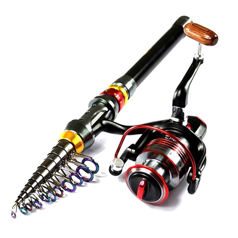 Cheaper 2.1-3.6M Telescopic Fishing Rod + 3000 Series 4000 Series Spinning Fishing Reel Set Kit  цены