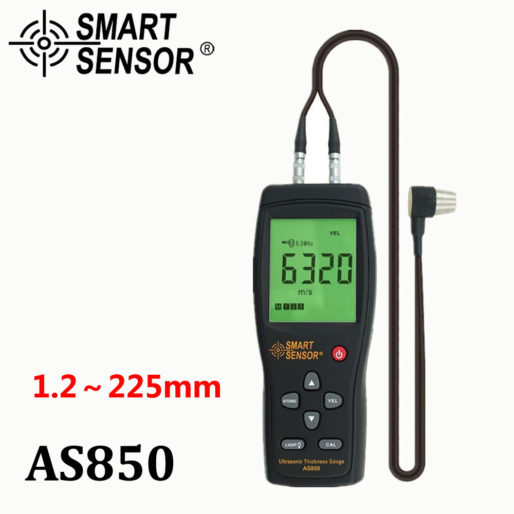 Ultrasonic Thickness Gauge Tester Sound Velocity Meter Metal Width Measuring Instrument 1 2 to 225MM For