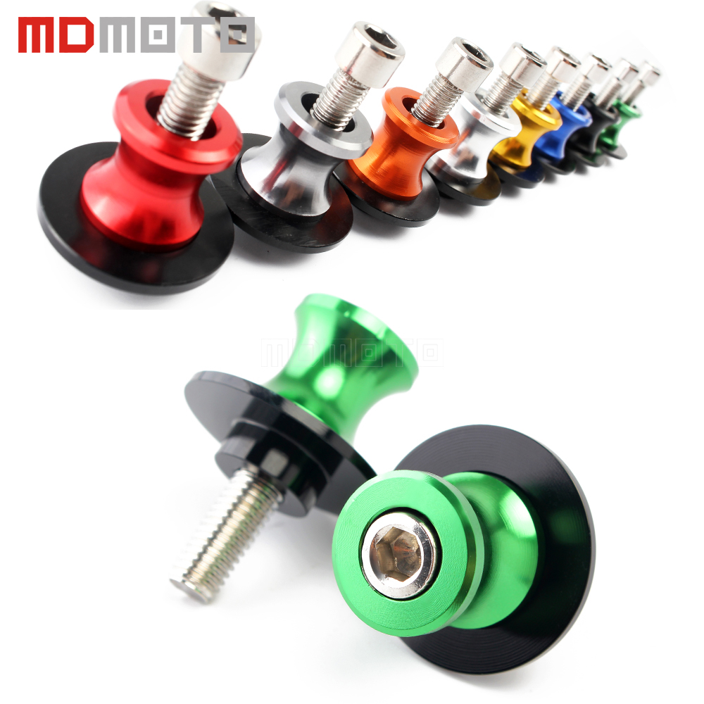Motorcycle accessories Swingarm Spools stand screws Slider For KAWASAKI ER6N Z750 Z750R Z250 NINJA 250 300 Z1000 1000 Versys M10