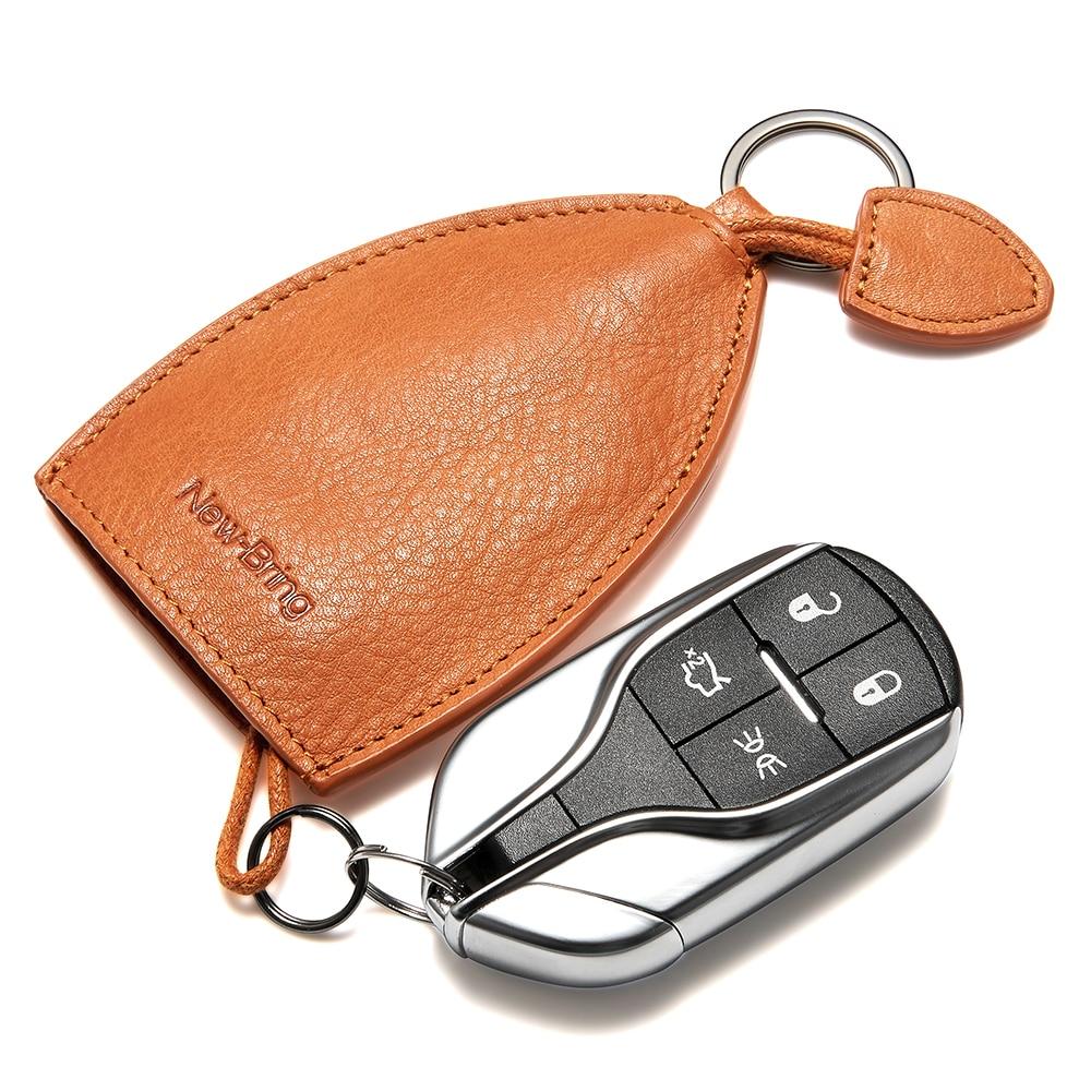 Universal PU Leather Car Key Wallets Men//Women Zipper Key Case Bag Pouch Purse