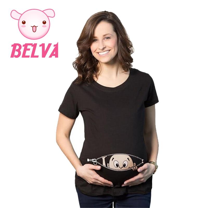 Belva 2016 Umstandsmode Mutterschaft Tops Lustige Mutterschaft Shirts Für Schwangere Schwangerschaft Kleidung Lustige Mutterschaft Sommer