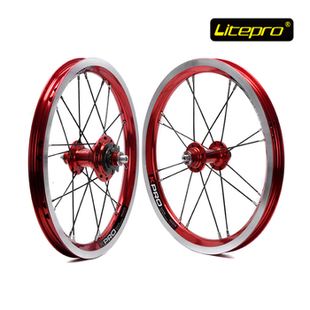 Litepro Kpro 14 inch Folding Bike Wheel Set Front Rear Folding Bike Refiting High Quality Single Speed Bicycle Wheel Set