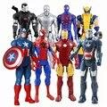 2020 Marvel удивительные Окончательный Человек Паук Капитан Америка «Железный человек», ПВХ, движущаяся фигурка, Коллекционная модель, игрушка ...