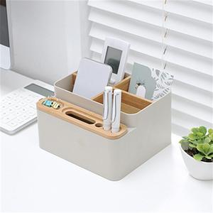 Image 5 - Office Desk Stationery Storage Box Detachable Desktop Multi Purpose Storage Box School Office Students Storage Box Drop Shipping