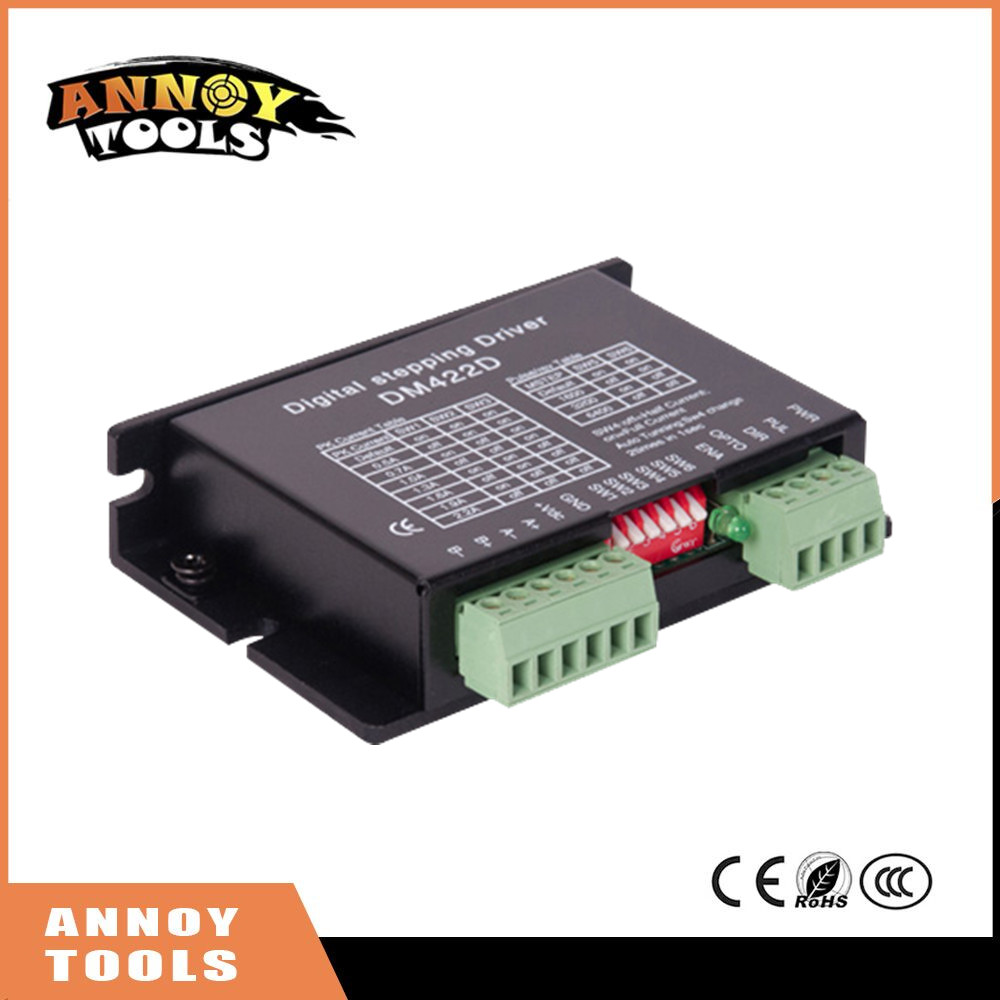 High Quality DM422 Digital Stepper Motor Drives 2-phase 20-40VDC/0.5-2.2A for NEMA17/Nema 23 Stepper motor high quality 5pcs lot 1m dupont line two phase hx2 54 4pin to 6pin terminal motor connector cables for 42 stepper motor