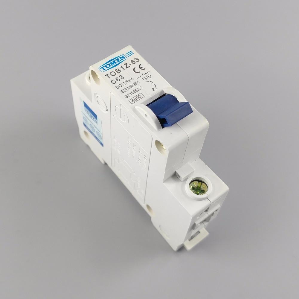1P 63A DC 125V Circuit breaker MCB C curve шнур малярный topex 30c630%2