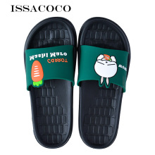 ISSACOCO Home Slippers Women Summer Non-slip Bathroom Sandals Cartoon Rabbit Couple Pantuflas Terlik Chinelos