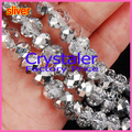 5040 AAA Top Half Clear sliver Color Loose Crystal Glass Rondelle beads.2mm 3mm 4mm,6mm,8mm 10mm,12mm Free Shipping!