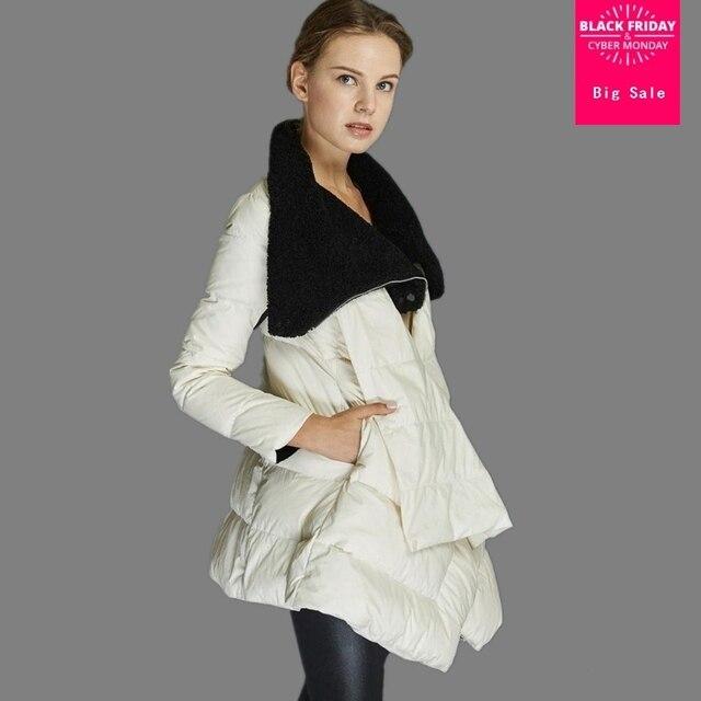 45ca65e2a0e 2018 Зимние новые модные фирменный плащ стиль 90% куртка-пуховик Модные  женские высокие-