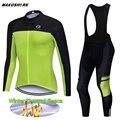 Зимний термальный флисовый комплект одежды для велоспорта с длинным рукавом  комплект для велоспорта и Джерси  велосипедные костюмы  компл...