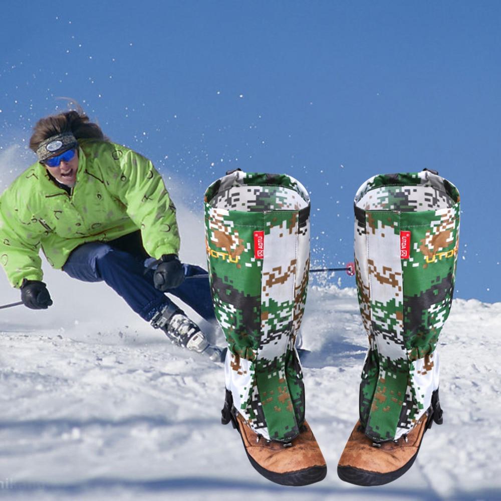 Prix pour 1 Paire Extérieure Étanche Alpinisme Neige Couverture Pied Manches Camouflage livraison gratuite