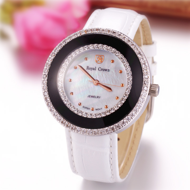 Royal Crown Large Lady Womens Watch Japan Movt Mother-of-pearl Hours Fine Fashion Dress Clock Bracelet Luxury Girls Gift BoxRoyal Crown Large Lady Womens Watch Japan Movt Mother-of-pearl Hours Fine Fashion Dress Clock Bracelet Luxury Girls Gift Box