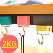 3Pcs/Set Magnetic Hook Strong Mini Heavy Duty Hanger Key Holder Durable For Home Kitchen Refrigerator Bearing 2KG Hooks