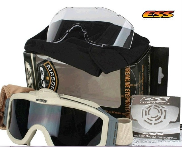 cb02e16a60e Outdoor Sports Eyewear Profile Turbofan Goggles Army ESS Crossbow Bullet-proof  goggles with fan anti-fog military sunglasses