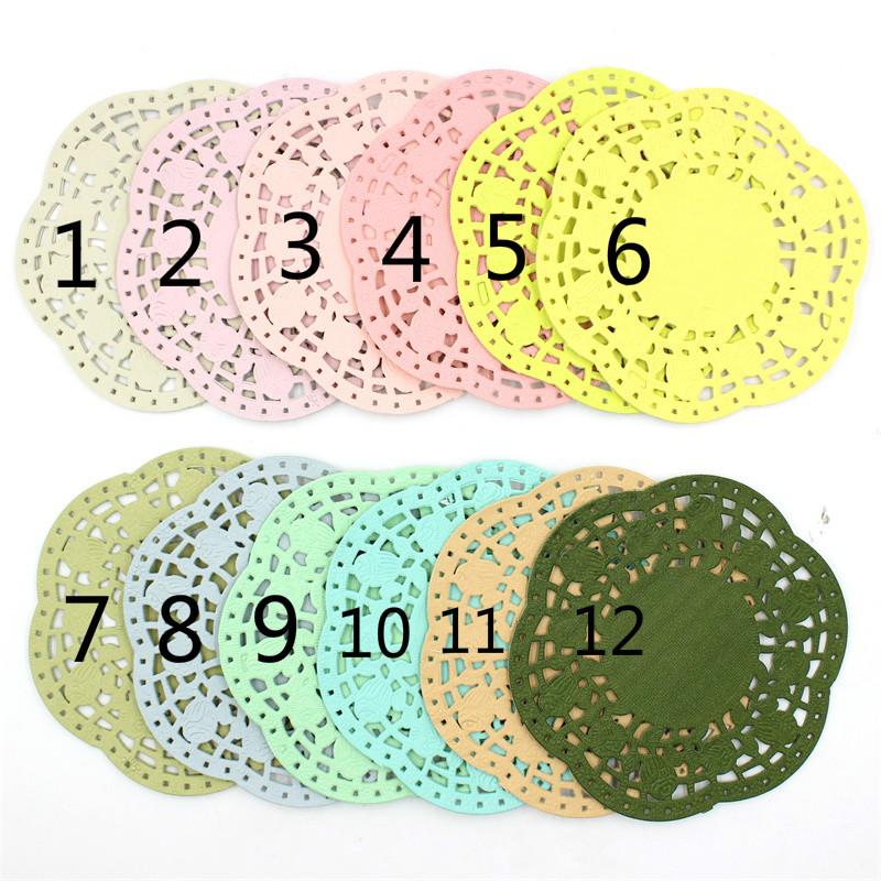 aliexpress com   buy ypp craft 4 5 u0026quot  colored flower lace paper doilies  placemats for wedding