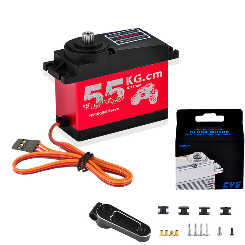 CYS-S0650 Large 55Kg HV High Torque Metal Gear Digital Servo for RC Car Boat Airplane HPI Rovan Km Baja 5B 5T RC Servo image