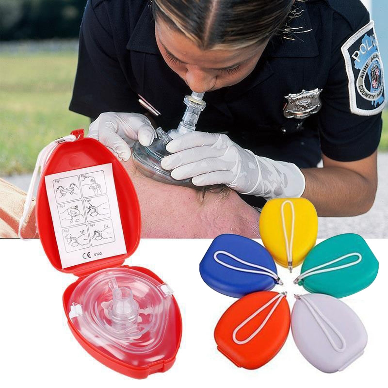 Professional CPR Face Protect Mask With One-way Valve For First Aid Rescuers Training Teaching Kit Breathing Mask Medical Tool 500pcs lot optional color cpr breathing mask protect rescuers with one way valve artificial respiration reuseable mask
