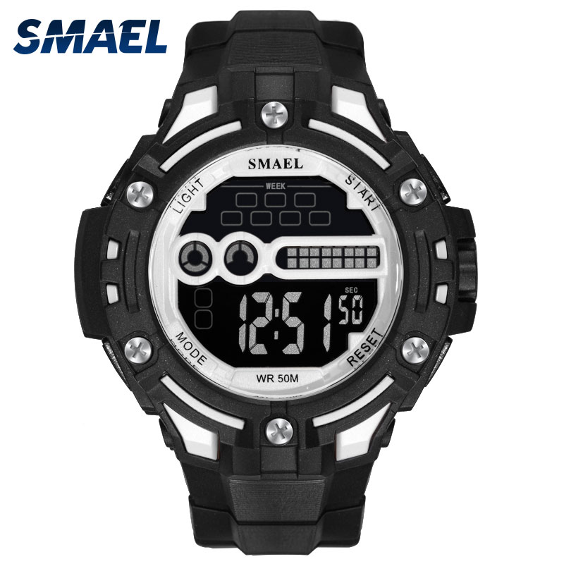 Digital Wristwatches Military LED Clock SMAEL Watch Men Mechanical Automatic Men Watch Waterproof1526 Mens Army Watches Military smael 1708b
