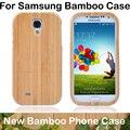 Para samsung s3 s4 s4 mini s5 s6 s6 borde de madera caso de bambú de madera de la cubierta para samsung galaxy s4 mini shell + protector de pantalla + paquete