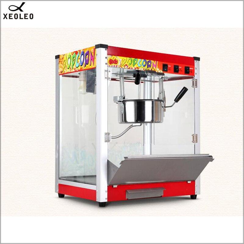 XEOLEO 8 унц. попкорн чайник коммерческий Электрический Сферический попкорн машина 1360 Вт 110 В/220 В CE масло Popped закаленное стекло