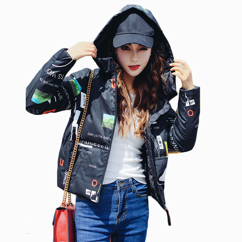 цена 2017 NEW ARRIVAL HOT SALE  AUTUMN/WINTER WOMEN JACKET THICKEN WARM PRINT HOODED FEMALE SHORT PARKA COTTON FILLER OVERCOAT ZL721