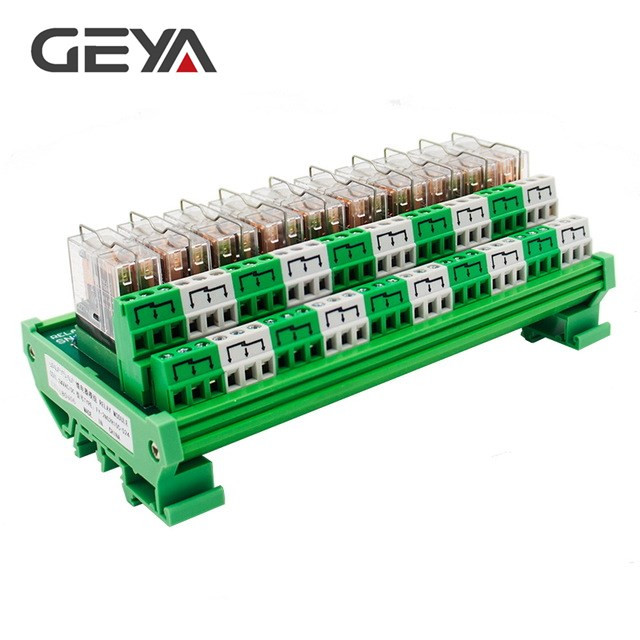 GEYA 2NG2R DPDT Relay 10 Channel Omron Relay Module 2NO 2NC Plug in Relay 12V 24V rotary knob dpdt 2no 2nc 8p 0 30seconds timing time relay dc 24v ah3 2
