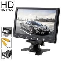 9 Inch 12V HD 1024*600 TFT LCD Car Rear View Monitor 2 Video Input DVD VCD Headrest Auto Monitor Support Audio Video HDMI VGA