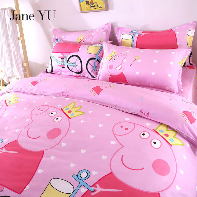 JaneYU Spring Summer Pro Skin Cotton Cartoon 3/4Piece Set, Student Three Piece Bedding Wholesale.JaneYU Spring Summer Pro Skin Cotton Cartoon 3/4Piece Set, Student Three Piece Bedding Wholesale.