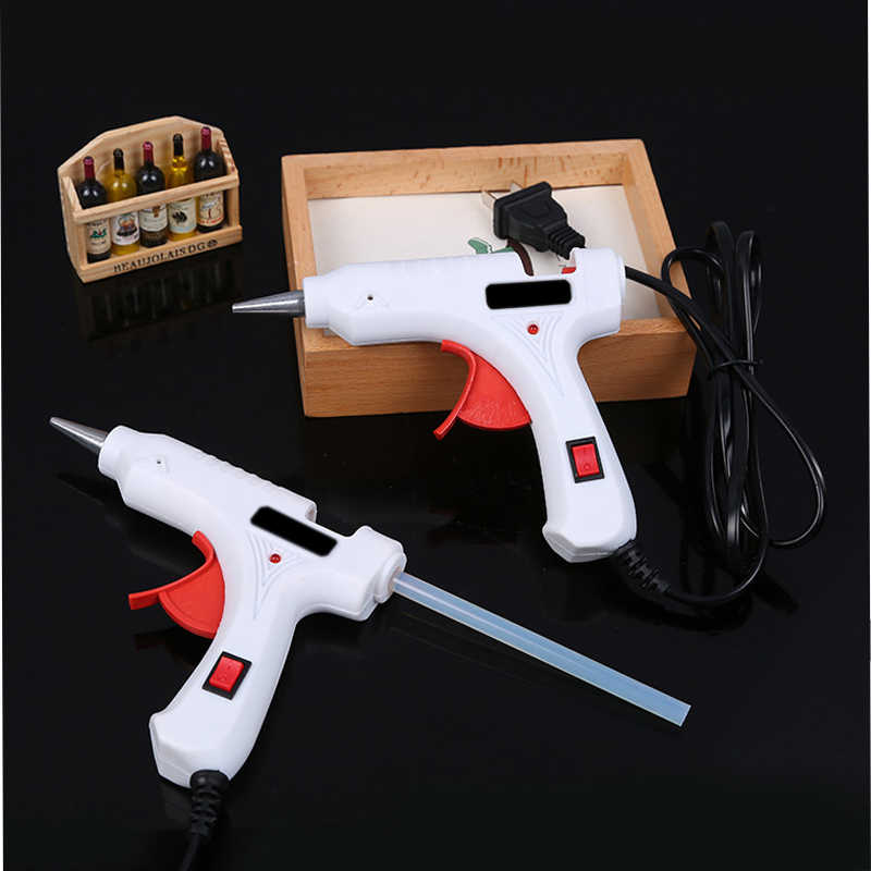 40W 110V-240V hot Melt Glue Gun With 7MM*100MM Glue Sticks DIY Thermo Mini Adhesive Glue gun Repair Heat Tools