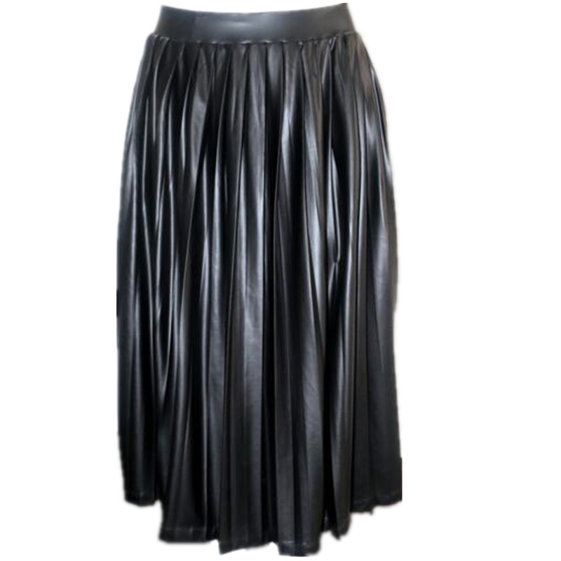 High Quality Long Black Pleated Skirt-Buy Cheap Long Black Pleated ...