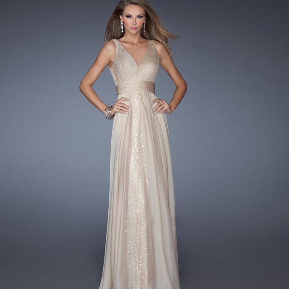 elegant mesh sequin bling bling v neck woman banquet dresses sleeveless ankle length solid empire female party dresses 90s in Dresses from Women 39 s Clothing