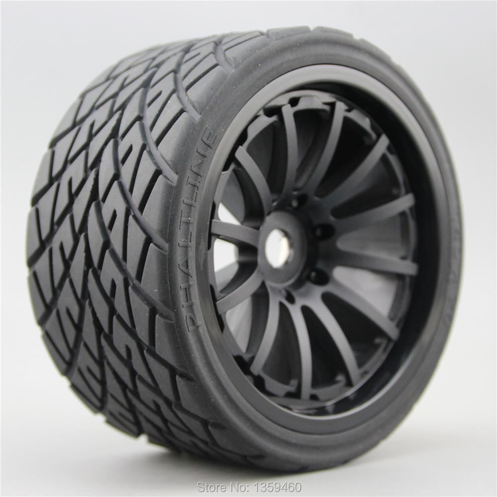 4pcs RC 1 8 Monster Truck On Road Wheels Tire Set Tyre 12 Spoke For HPI