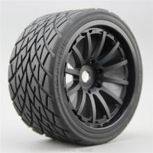 4 unidades rc 1/8 caminhão monster na estrada rodas e pneu conjunto 12 raios para hpi traxxas 17mm hub de metal 26412,